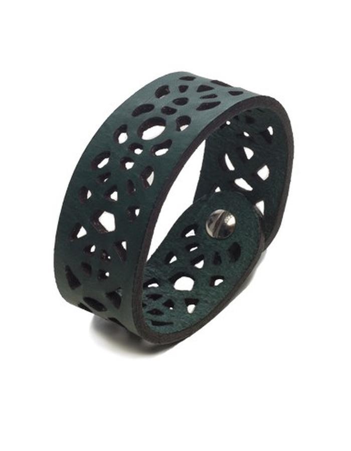 Leeanne green leather bracelet