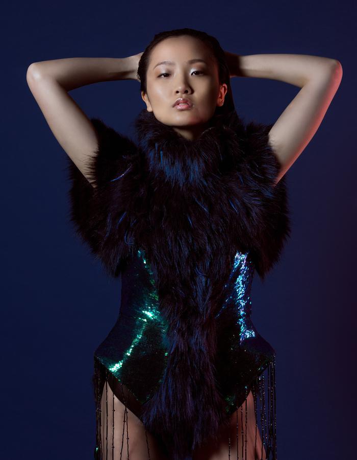 Miranda Dix Guepe - metallic fur leotard