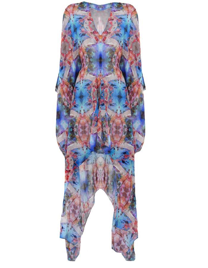 nvoi kaftan dress printed awareness depth