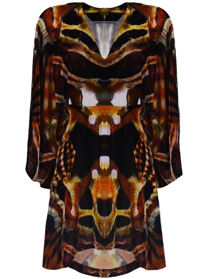 nvoi kimono dress printed awareness depth