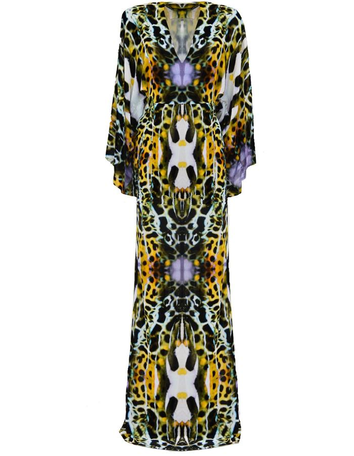 nvoi kimono dress printed awareness depth