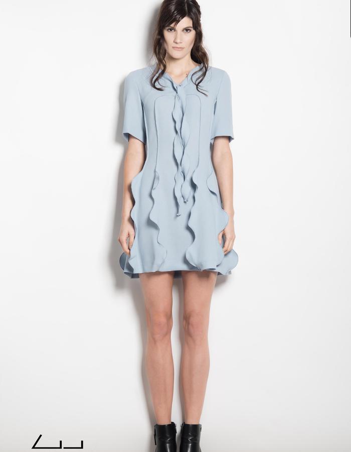 light blue wave dress