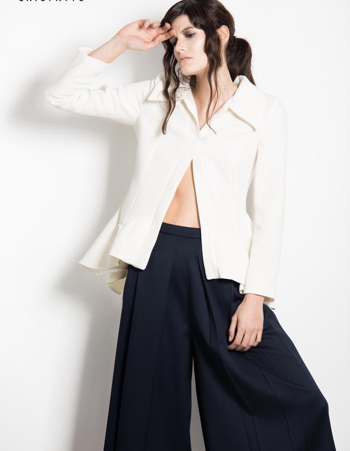 white new look jacket skirt-pant