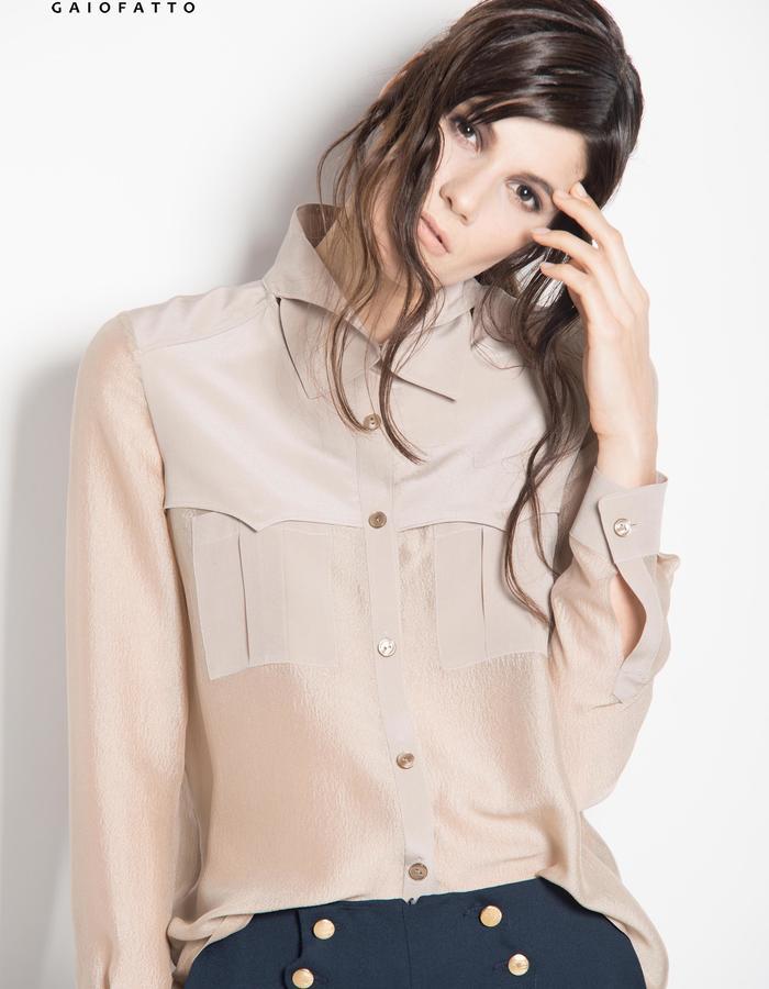 camel silk shirt sahara