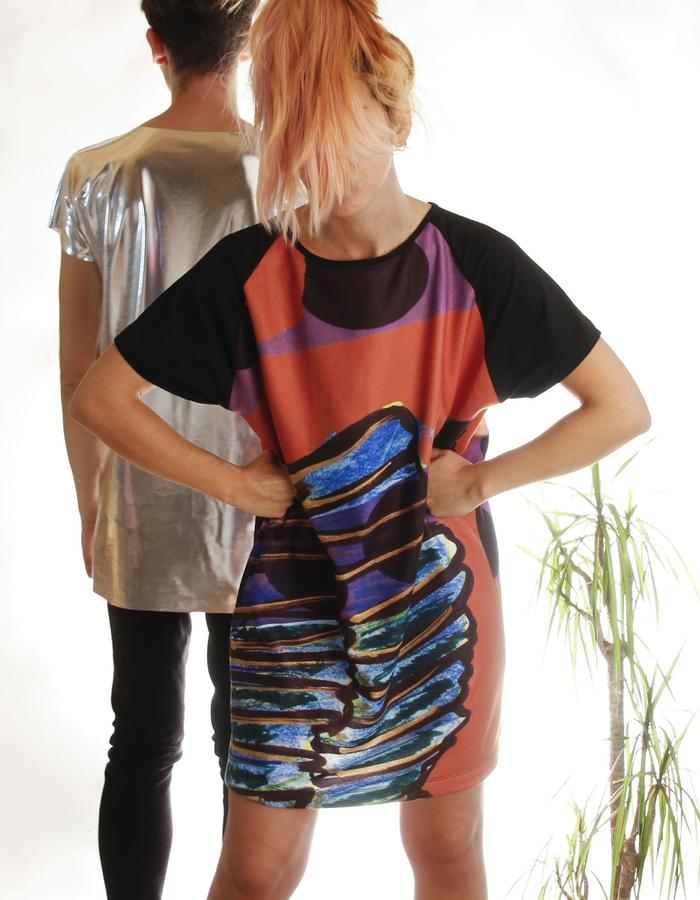 udha's big tee|dress - wing's sphinx print - limited edition - exclusive prints