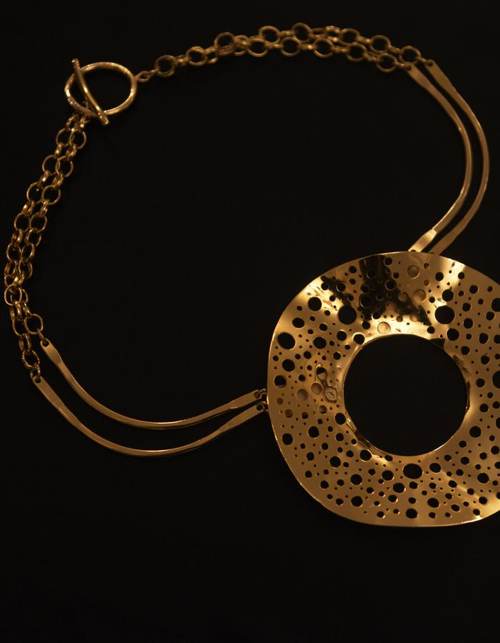necklace gold plated brass 21 k