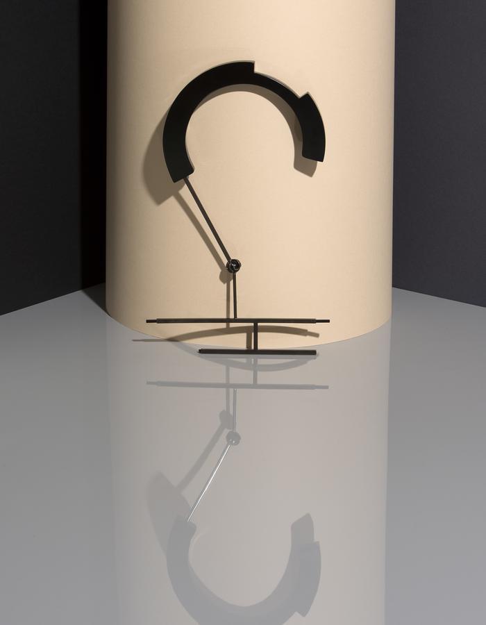 Transformable Necklace, Corian, Black Onyx Sphere, Brass, Bronze, Nickel Plating