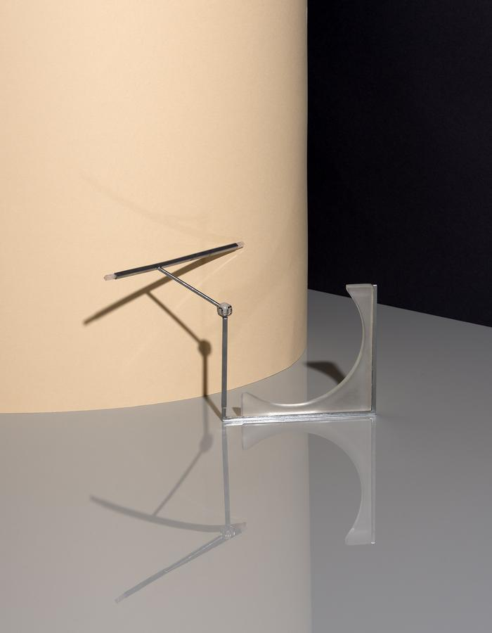 Transformable Necklace, White Sand Blasted Glass, White Quartz Sphere, Brass, Bronze, Chrome Plating