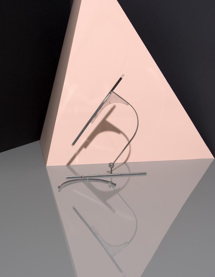 Transformable Necklace, Pink Quartz, Pink Quartz Sphere, Brass, Bronze, Chrome Plating