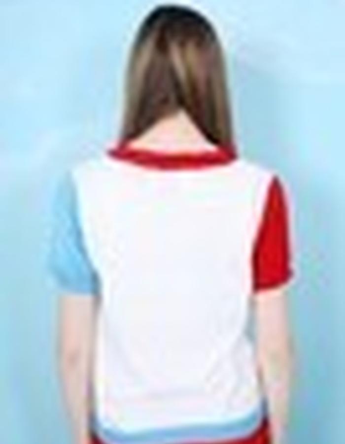 Colour Block Knit T-Shirt
