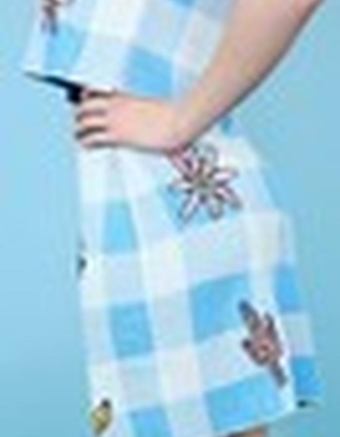 Gingham Patch Mini Skirt