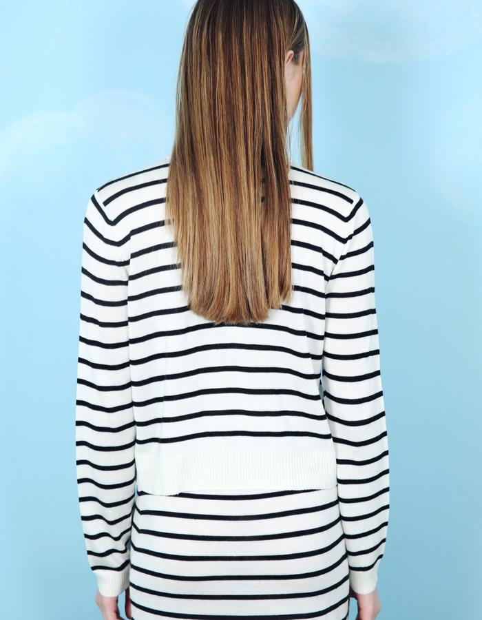 Onigiri Stripe Crop Top