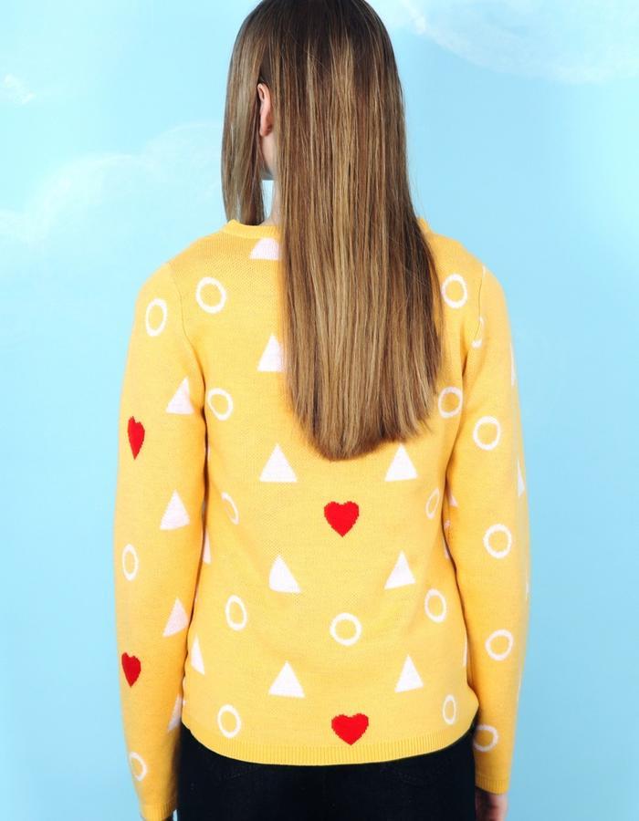 Heart Knit Jumper Yellow