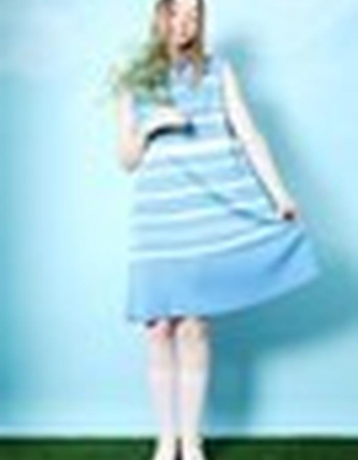 Stripe Knit Midi Dress