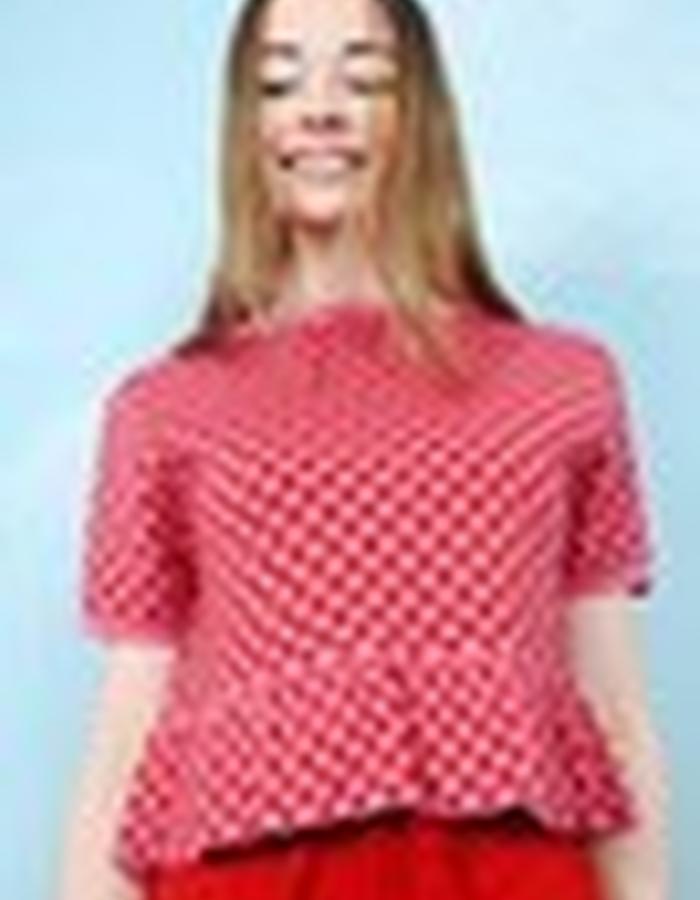 Peplum Knit Pattern Top