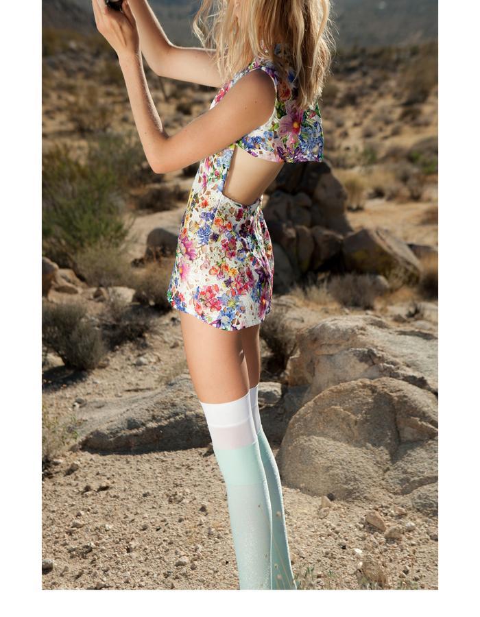 Emily Daccarett Floral mini dress
