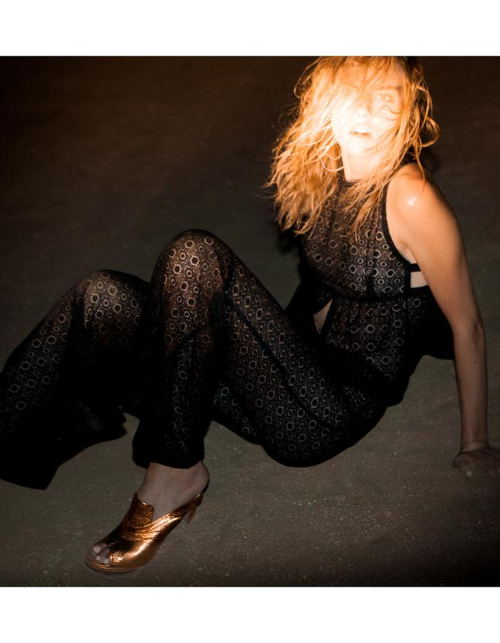 Emily Daccarett Lace Flared pants and top