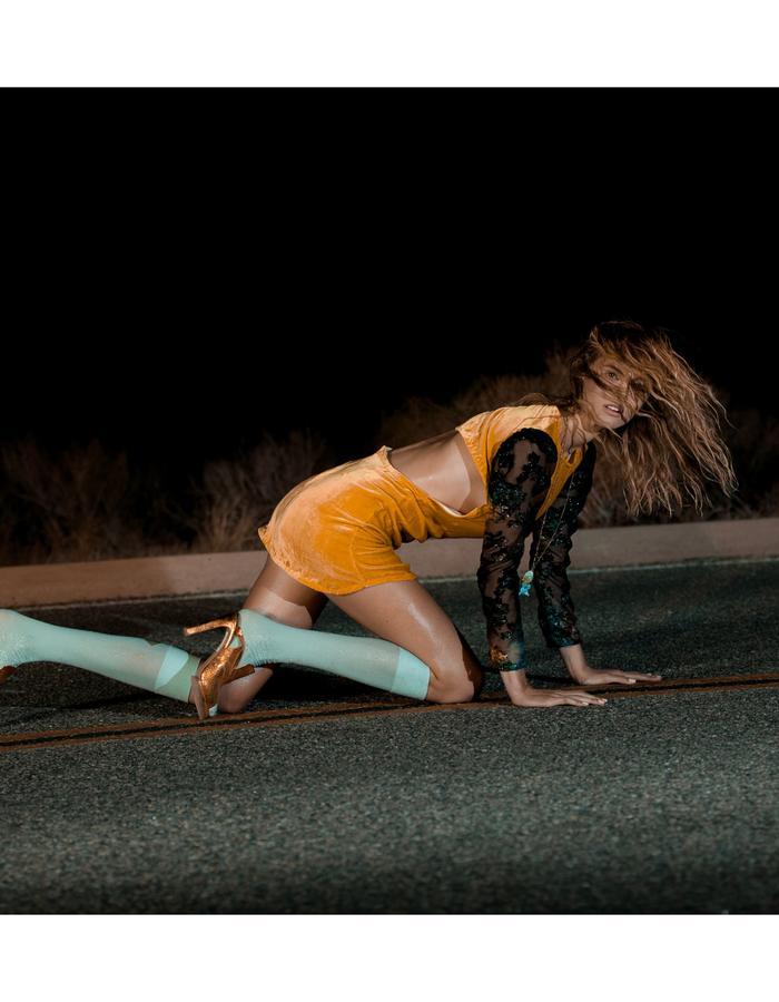 Emily Daccarett Mustard Velvet dress