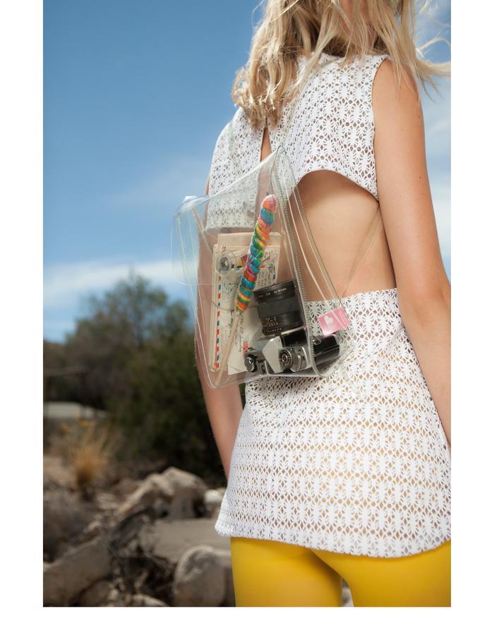 Emily Daccarett White Jersey/plastic mini