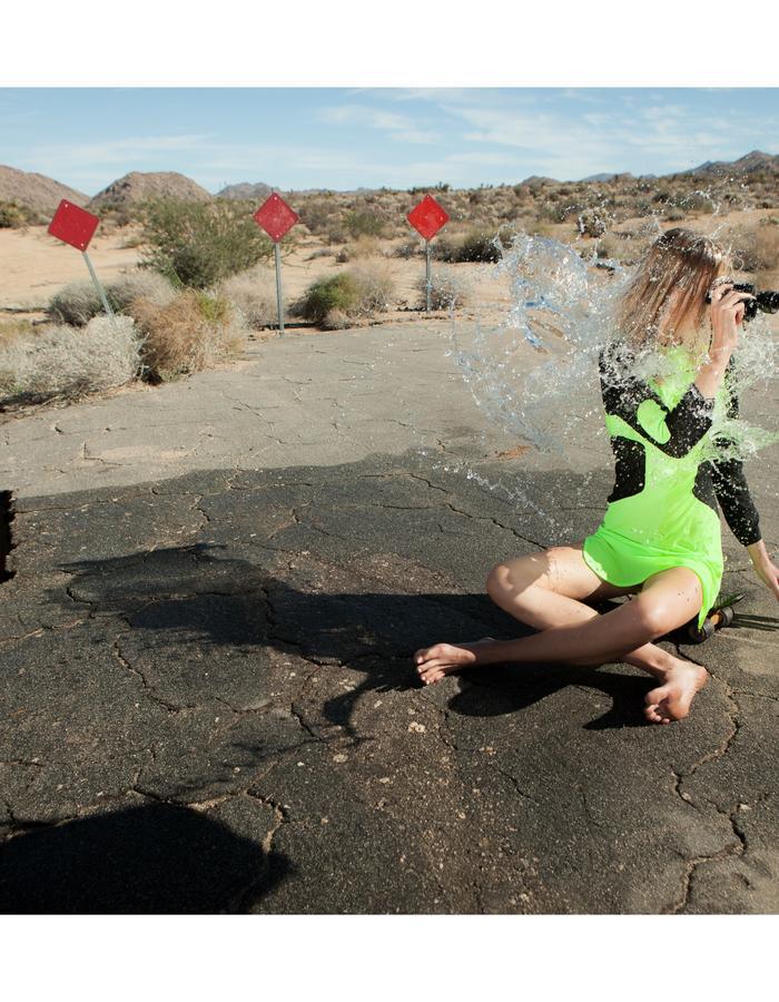 Emily Daccarett Green Neon dress