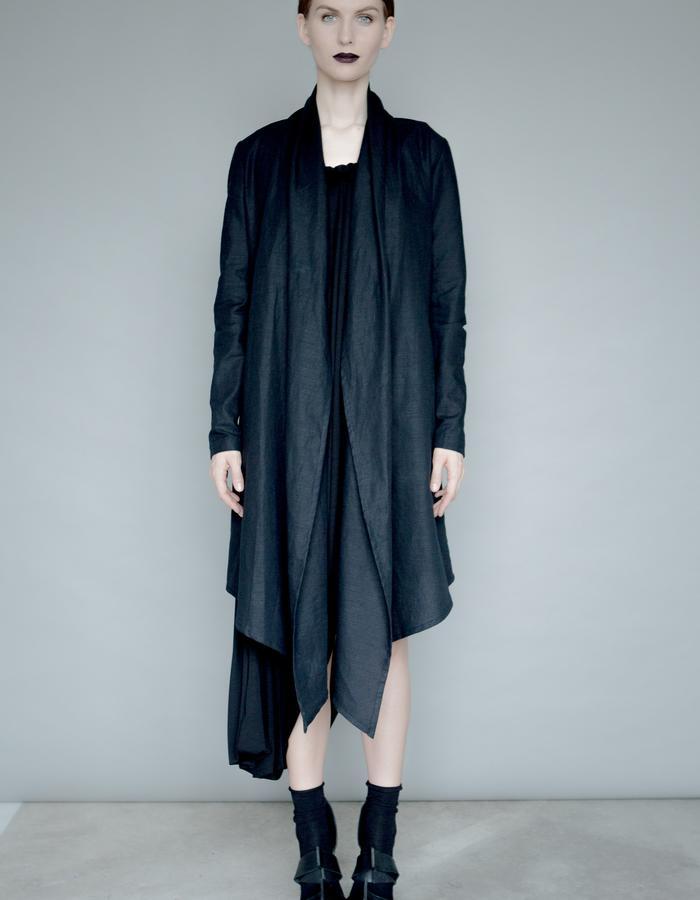 Black linen jacket
