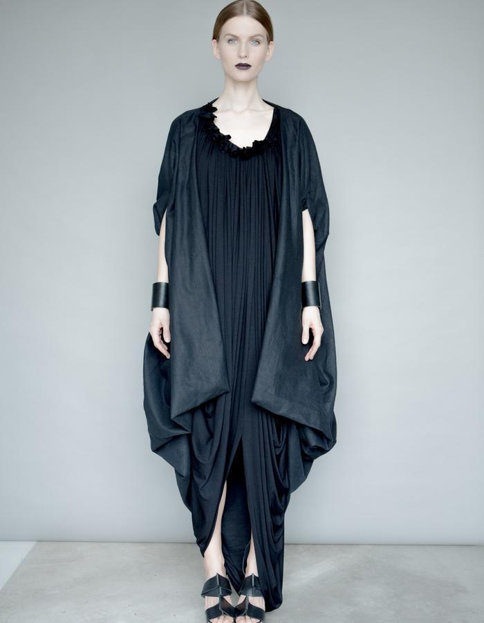 Black Linen Zero Waste Jacket