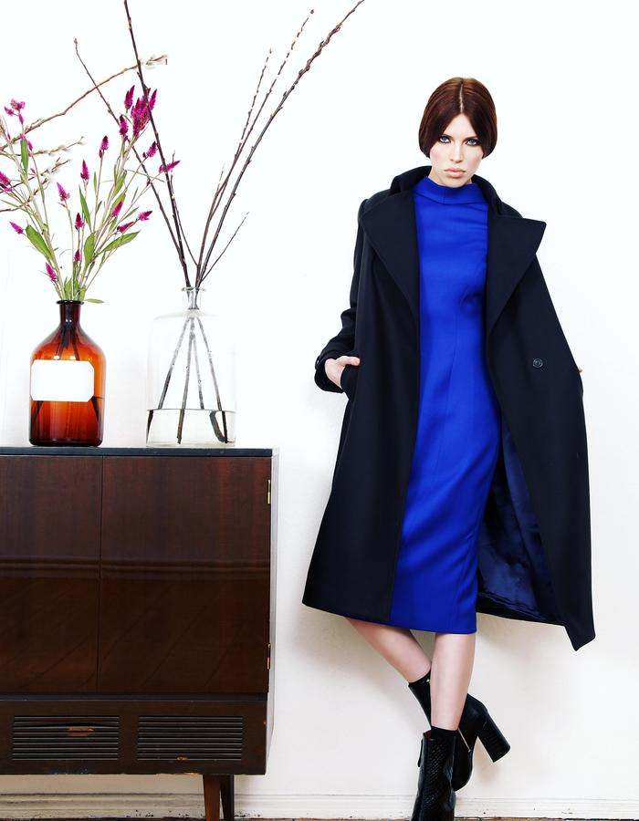wool coat blue navy
