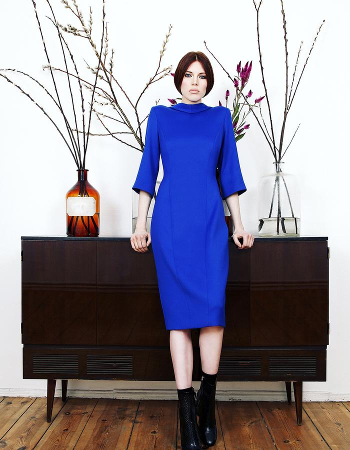 Blue Wool Dress #blue #wool