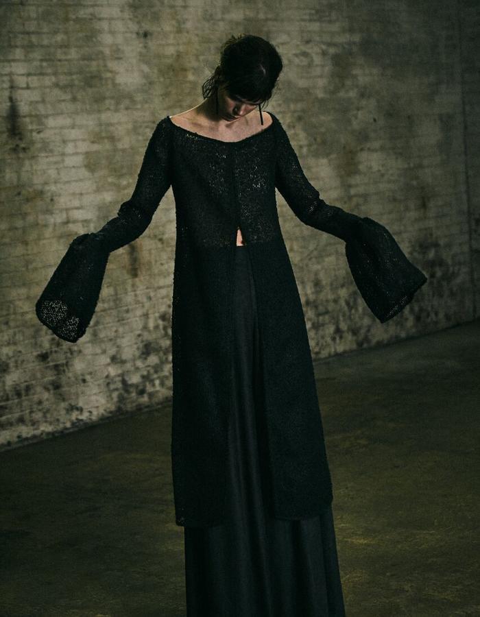 Mila Crochet Tunic + Andromeda Black Pant