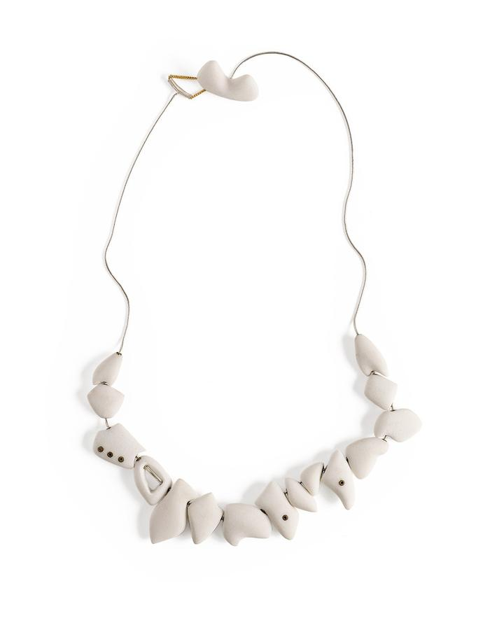 Tooth charm necklace