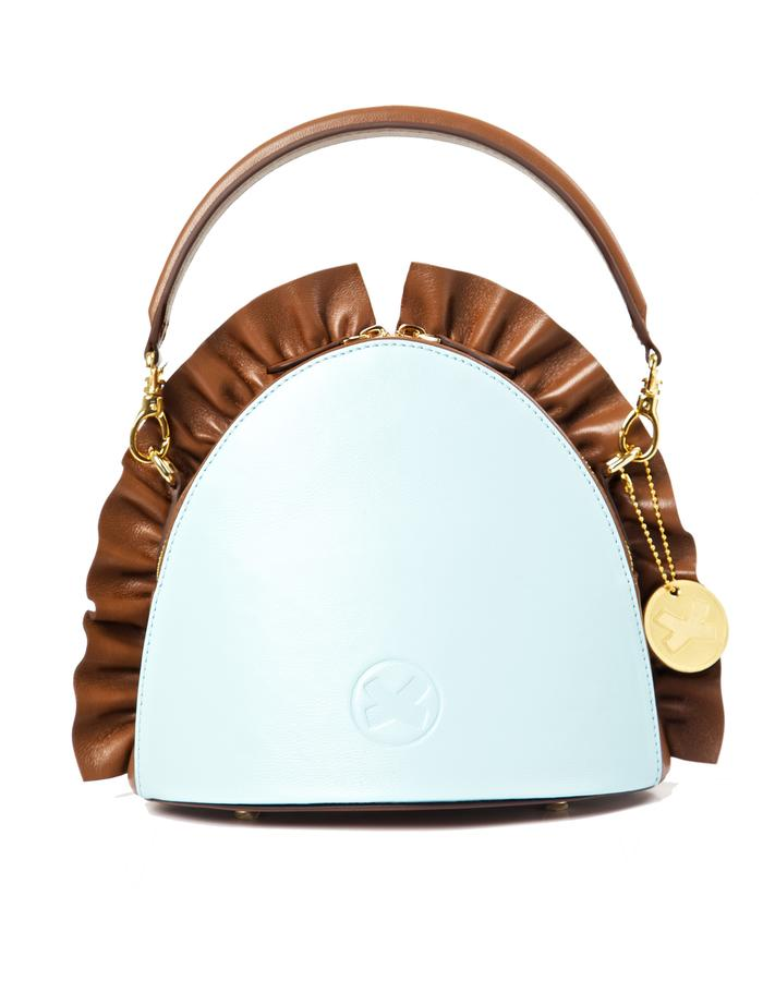 marie de la roche farfalla handbag chocolate italian leather