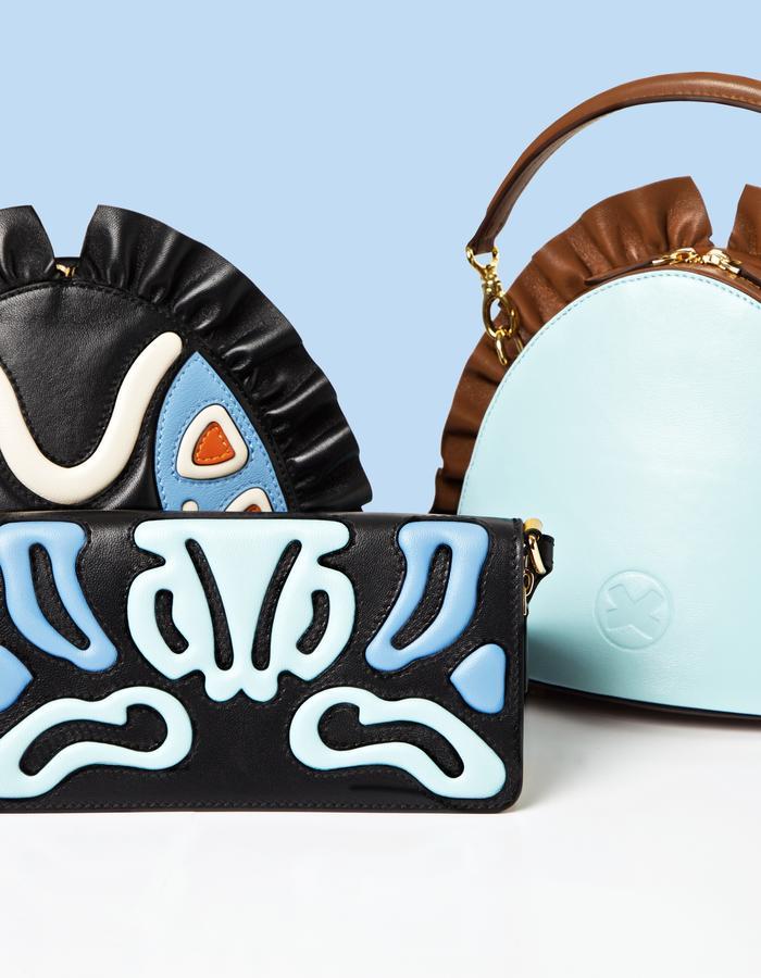 designer marie de la roche fall winter handbags clutches