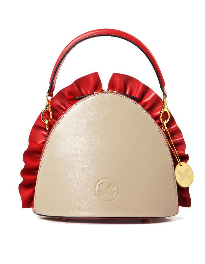 marie de la roche moscow handbag cherry italian leather