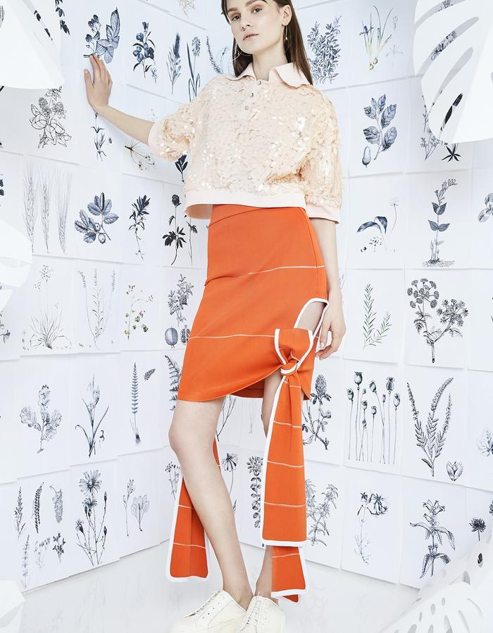 FRUIT FLAVORED Polo Shirt with MENDED HEART Skirt