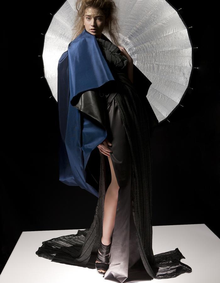 """""""PRIMAL LIGHT"""": Model: Irene A., Photography: Samira Mohamadi, H&M: Olesja Kelberer, Designer: Jennifer Moica"""