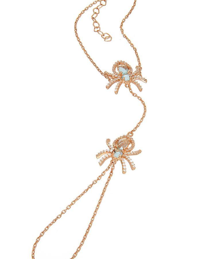 Sterling Rose Gold Vermeil Spider Wristlet
