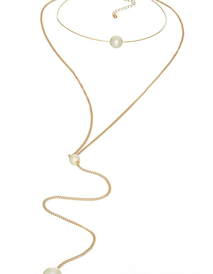 Gold Marshmallow Ring Necklace