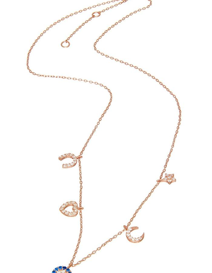 Sterling Rose Gold Candi Charmz Necklace