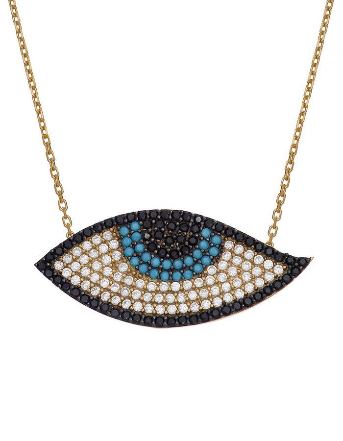 Sterling Candi Eye Necklace