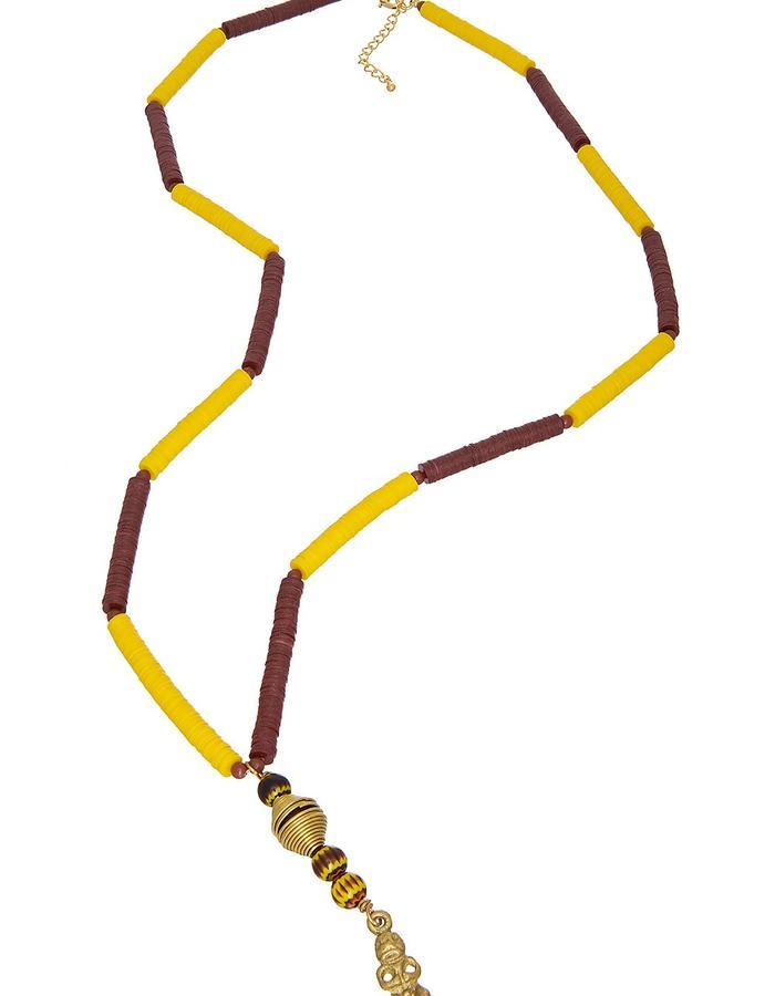 Lemon Record Rock Necklace