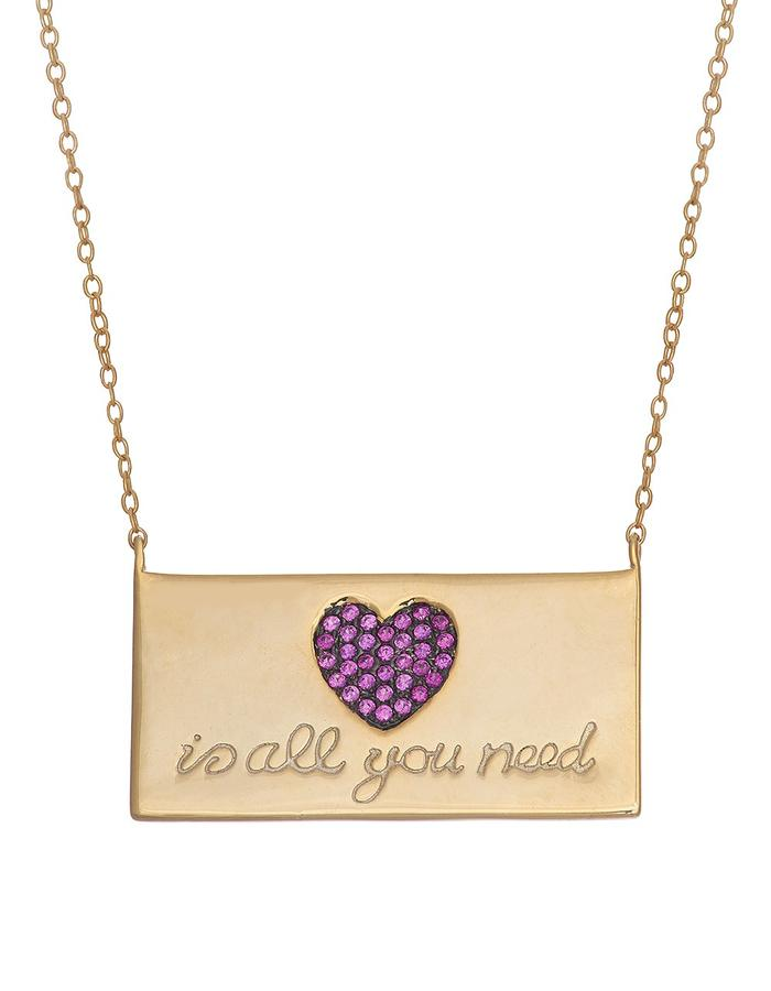 Sterling Candi Love Plate Necklace