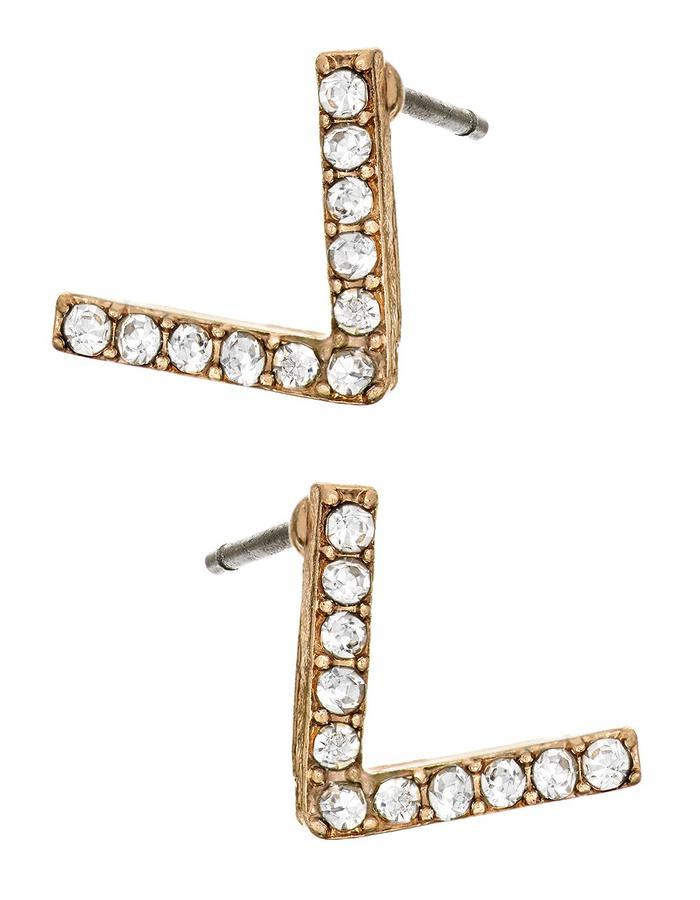 Gold Doublebar Earring