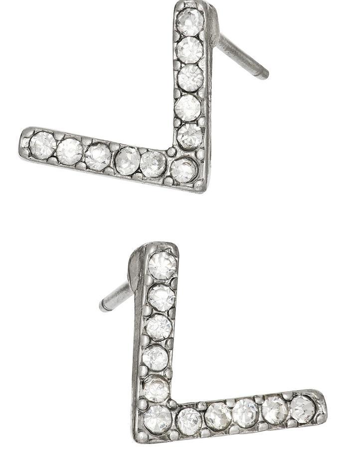Silver Doublebar Earring