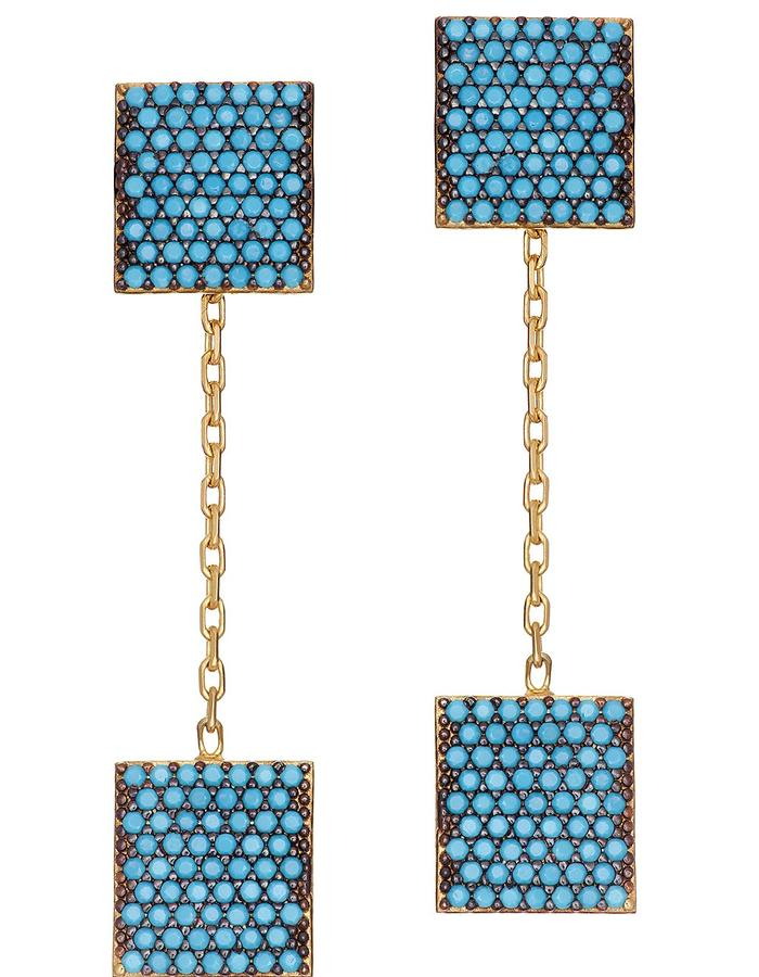 Sterling Candi Box Earring