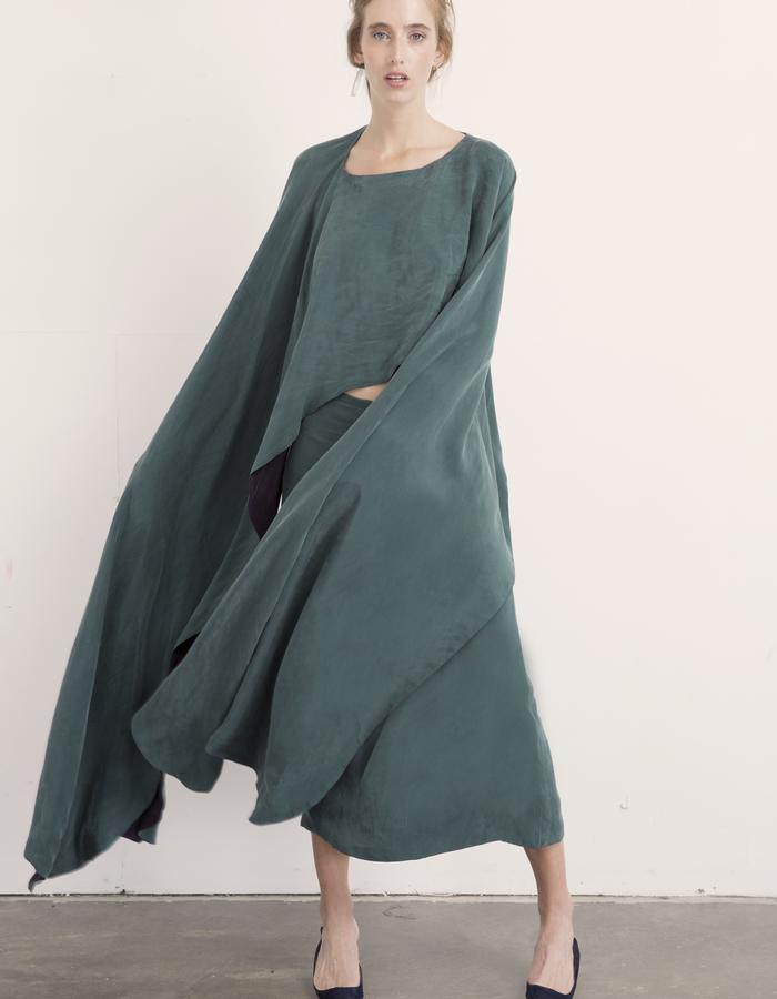 Malachite Reversible Cape & Jasper Skirt