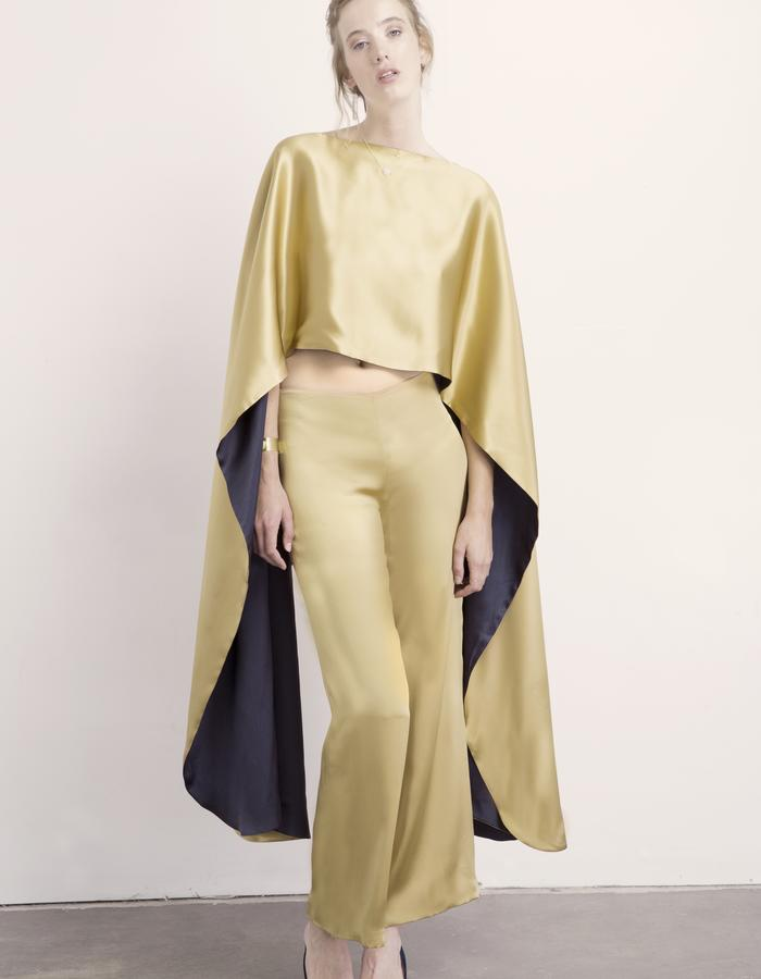 Malachite Reversible Cape & Citrine Pant