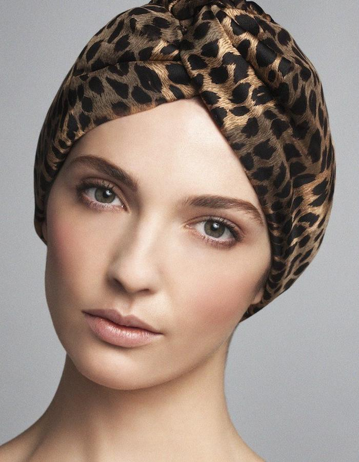 TURBAN IN SILK MOUSSELINE