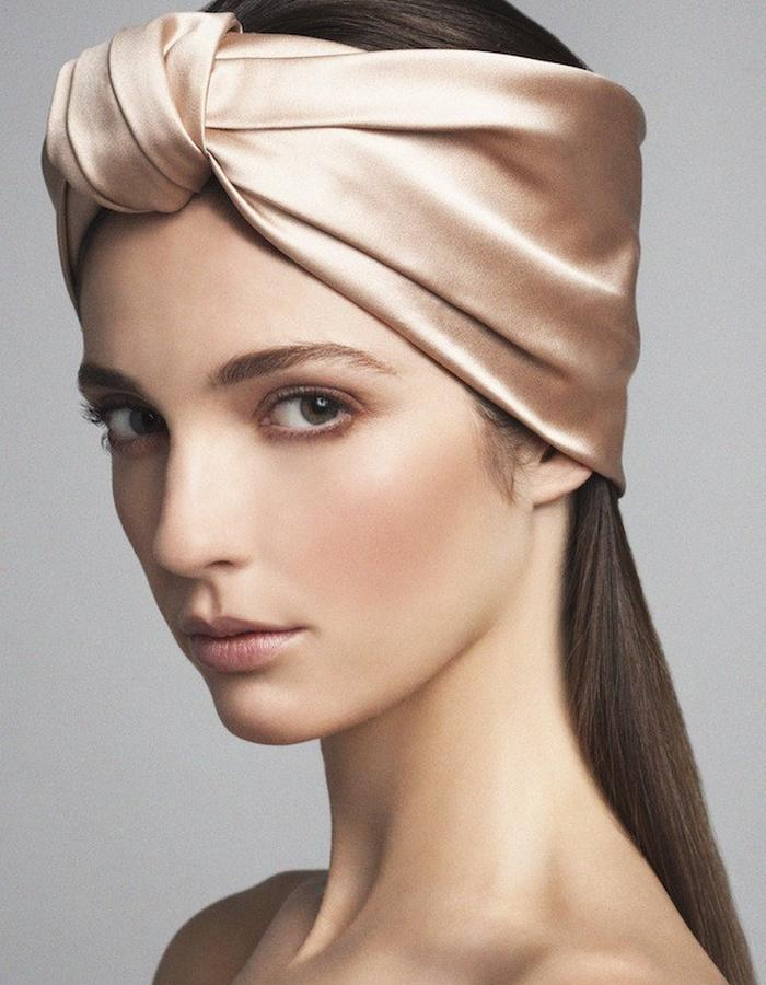 TURBAN IN SILK DUCHESSE SATIN