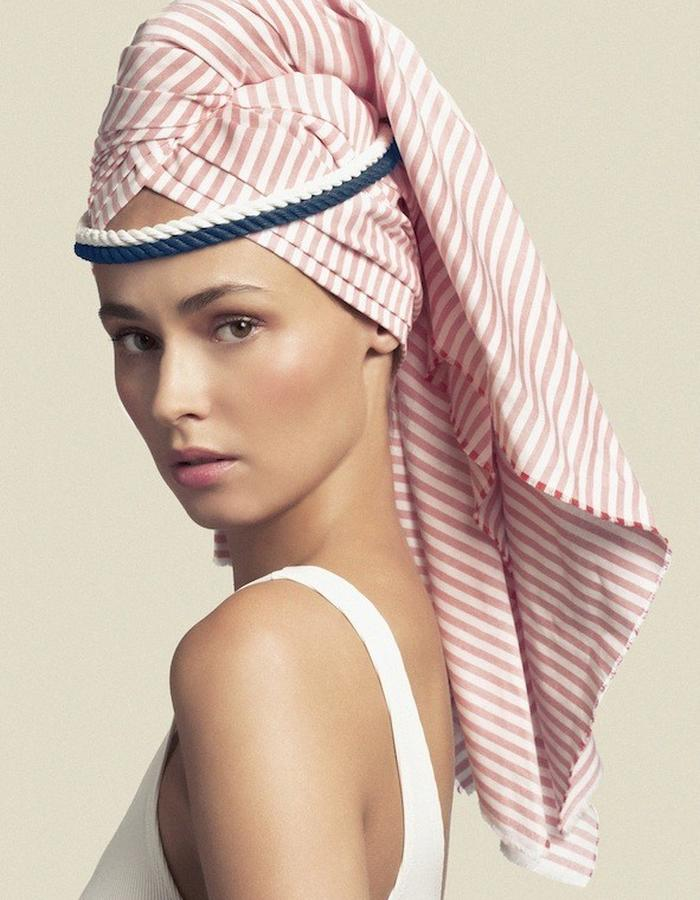 TOWEL-STYLE TURBAN IN COTTON
