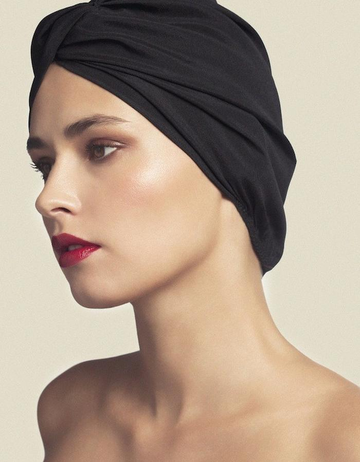 TURBAN IN PONGE SILK